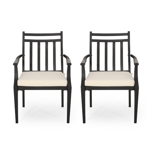 Johnstown Patio Dining Chair with Cushion (Set of 2) by Gracie Oaks