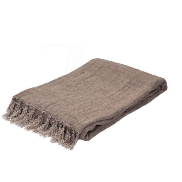 Brooks Linen Throw by Eider & Ivory
