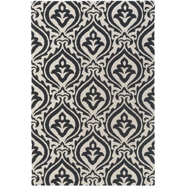 Lachapelle Black/Ivory Area Rug by House of Hampton