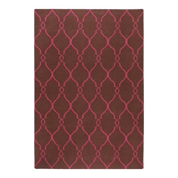 Findley Hand-Woven Chocolate/Fuchsia Area Rug by Darby Home Co