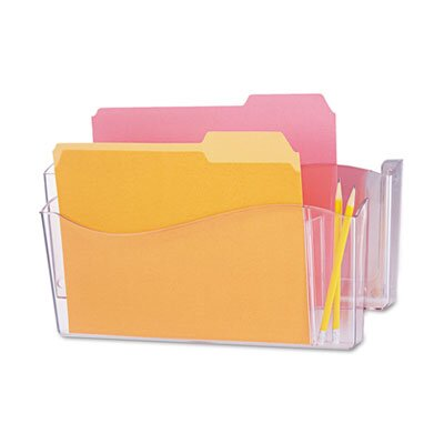 Unbreakable 4-In-1 Wall File, Two Pockets, Plastic by Universal®