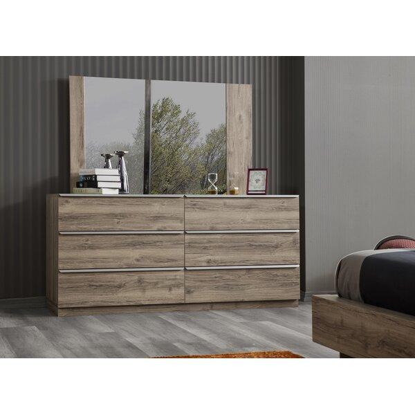 Coggeshall 6 Drawer Double Dresser by Orren Ellis