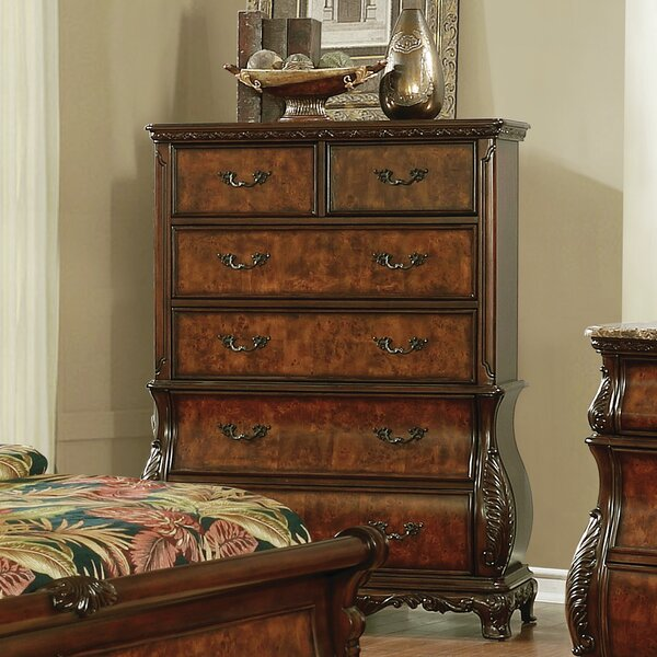 Crass 6-Drawer Chest Dark Burl by Astoria Grand