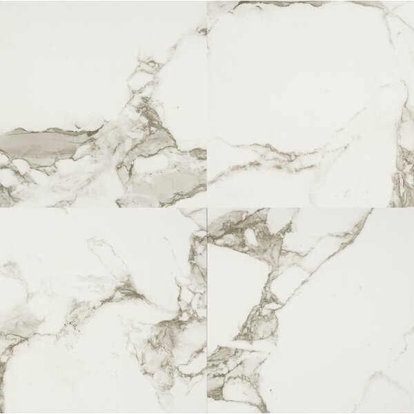 24 x 24 Porcelain Field Tile in Statuario by MSI
