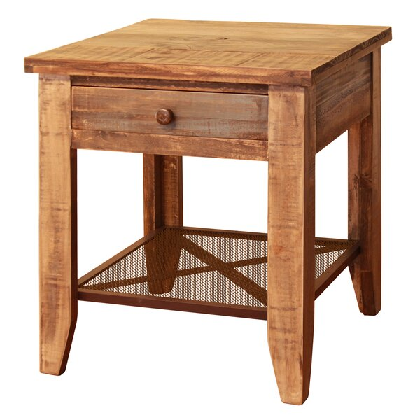Roberge End Table with 1 Drawer by Loon Peak