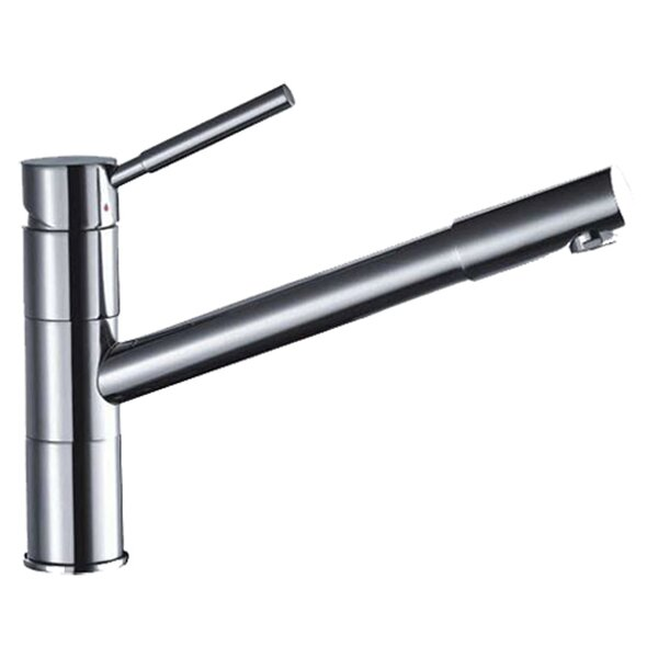 Single Handle Deck Mount Kitchen Faucet with Pull-Out Spray by Dawn USA