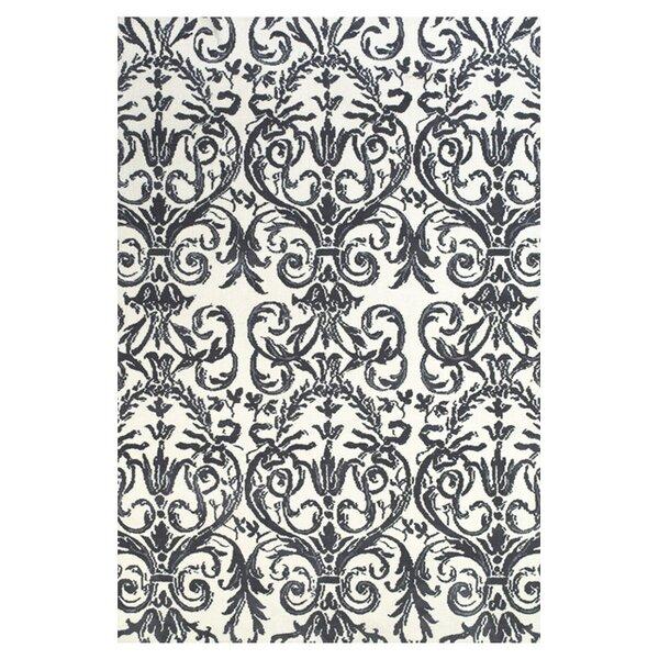 Cobden Slate / White Rug by Charlton Home