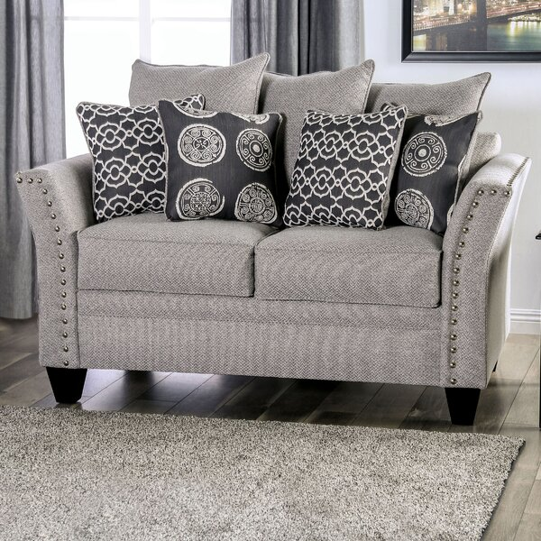 Sales-priced Alondra Flared Arms Loveseat by Darby Home Co by Darby Home Co
