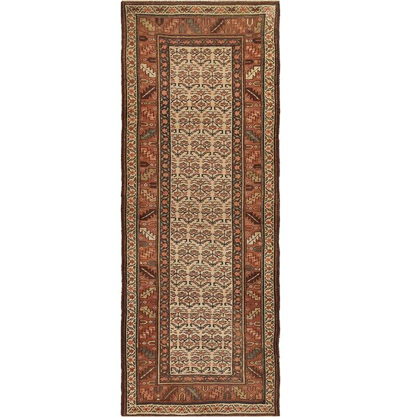One-of-a-Kind Antique Kurdish Handwoven Wool Brown/Beige Indoor Area Rug by Mansour