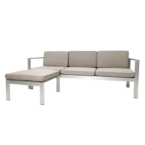 Karen Patio Sectional with Cushions by Rosecliff Heights