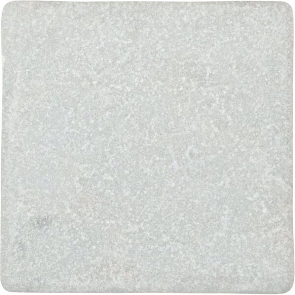 Valorem Tumbled 4 x 4 Marble Field Tile in White Carrara by Travis Tile Sales