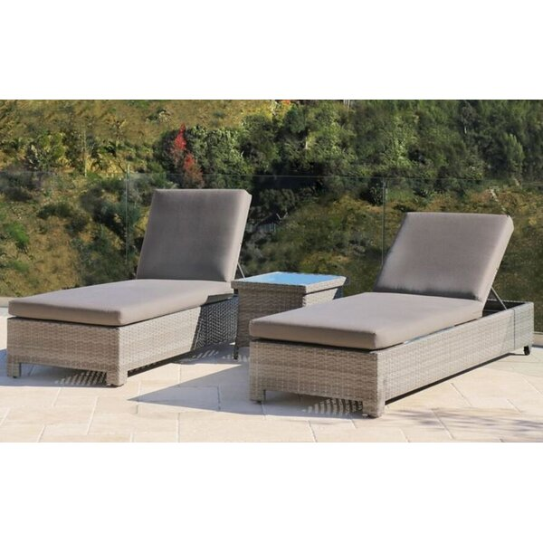 Chevonne Double Sun Lounger Set with Cushions (Set of 2)