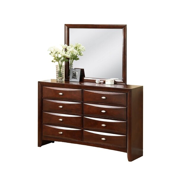 Corktown 8 Drawer Double Dresser with Mirror by Winston Porter