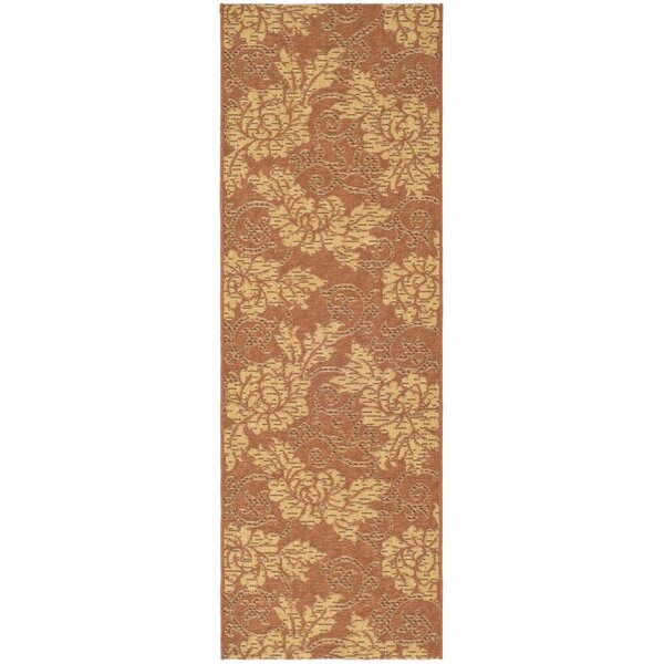 Laurel Brick/Natural Outdoor Rug by August Grove
