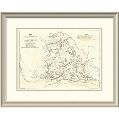 """Civil War Map of the Field of Shiloh, Near Pittsburgh Landing, Tennessee, 1862' Framed Print East Urban Home Size: 24"""""""" H x 30"""""""" W x 1.5"""""""" D -  EASN4231 39507842"""