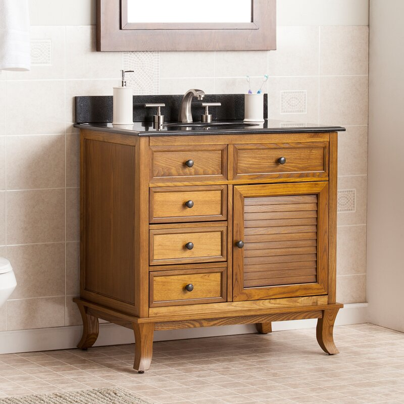 Thompson 335 Single Bathroom Vanity Set With Granite Top