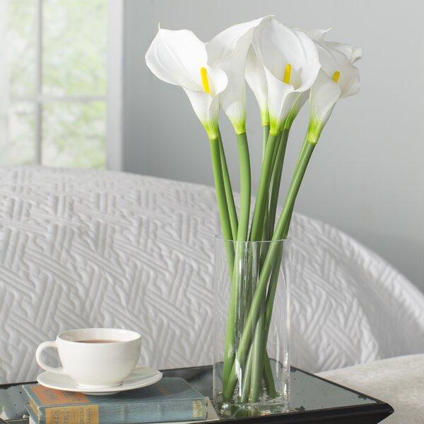 Artificial Potted White Callas in Vase by Willa Arlo Interiors