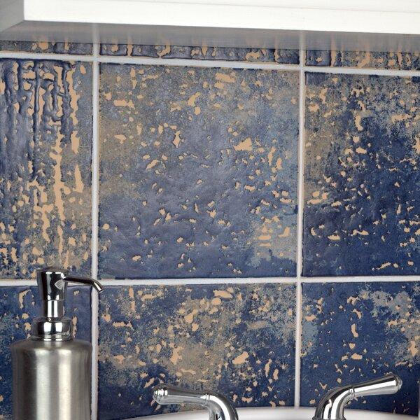 Romana 7.75 x 7.75 Ceramic Field Tile in Azul by EliteTile