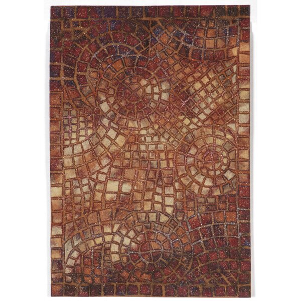Alline Arch Tile Red Indoor/Outdoor Area Rug by Bloomsbury Market