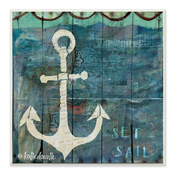 Coastal Anchor Graphic Art Wall Plaque by Stupell Industries