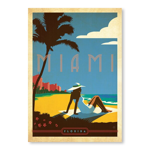 Miami Vintage Advertisement by East Urban Home