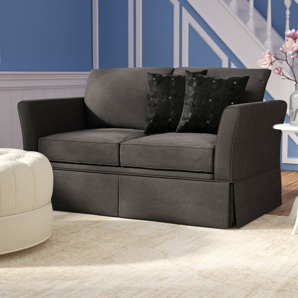 Salsbury Cushioned Sleeper Loveseat by Winston Porter