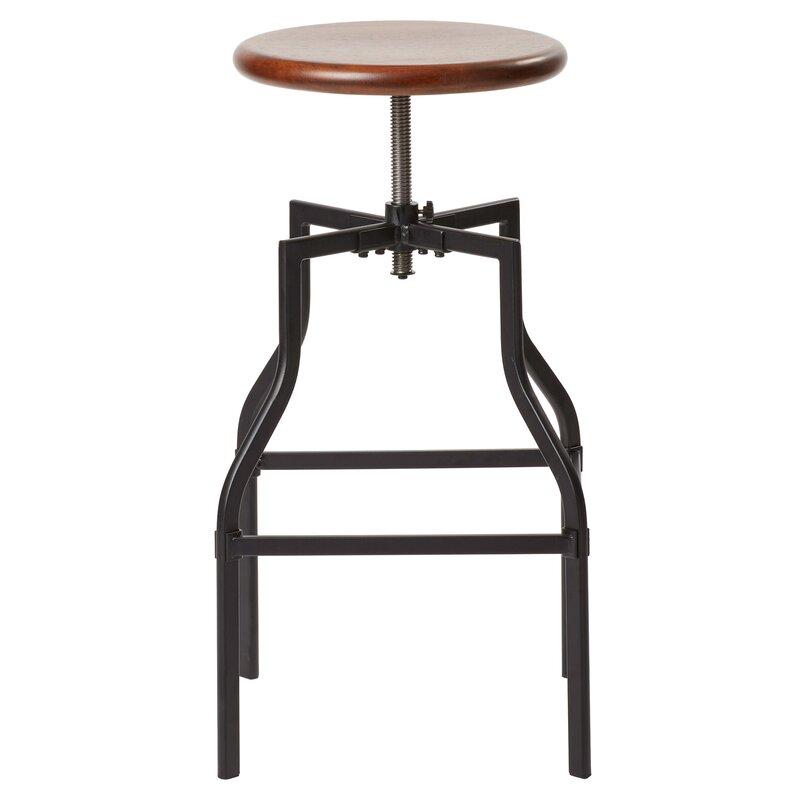 Mercury Row Arcadius Adjustable Height Swivel Bar Stool