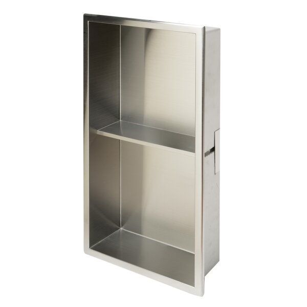 Stainless Steel Double Shower Niche by Alfi Brand