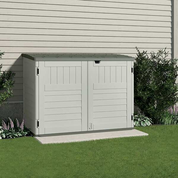 5 ft. 11 in. W x 3 ft. 8 in. D Plastic Horizontal Garbage Shed by Suncast