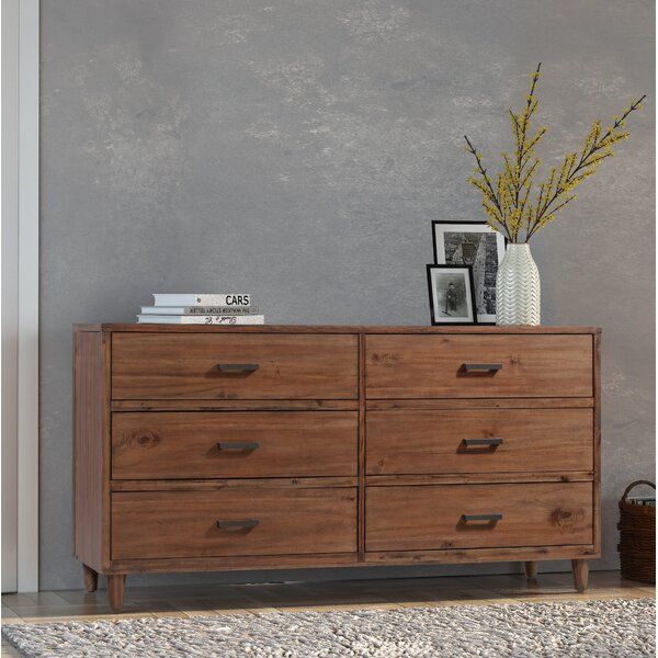 Ballentine 6 Drawer Double Dresser by Foundry Select