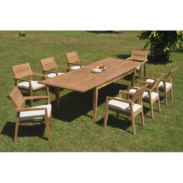 Darryl 9 Piece Teak Dining Set by Rosecliff Heights