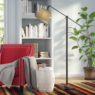 Affordable Bryner 65 Swing Arm Floor Lamp By Red Barrel Studio