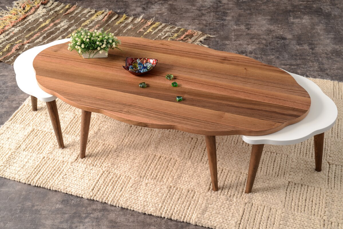 Corrigan Studio Everett 3 Piece Walnut Coffee Table Set & Reviews ...