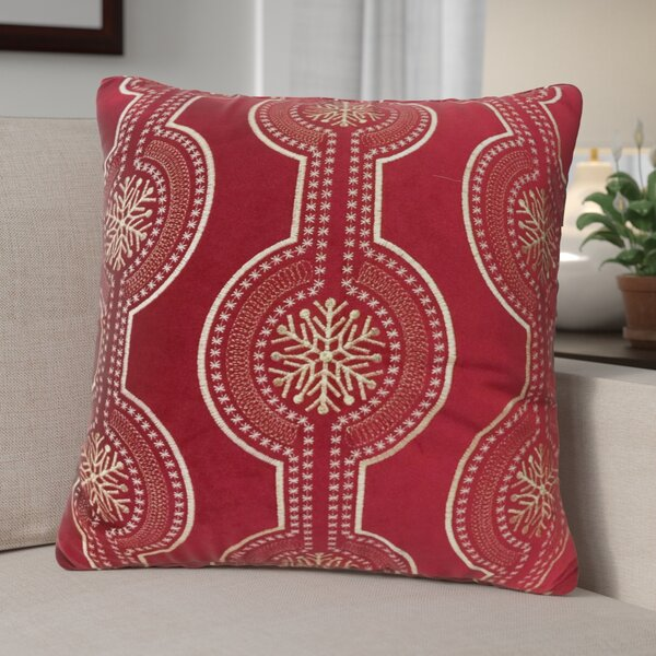 Holiday Velvet Throw Pillow by The Holiday Aisle