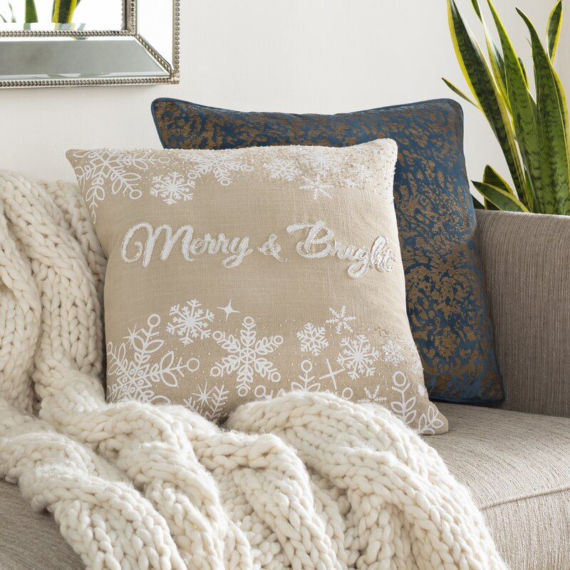 Marcella Merry and Bright Cotton 20in. Throw Pillow Cover
