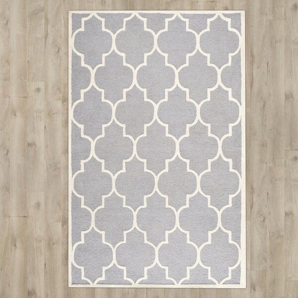 Martins Hand-Tufted Wool Gray/Ivory Area Rug by Wrought Studio