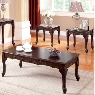 Best Corington 3 Piece Coffee Table Set By Fleur De Lis Living