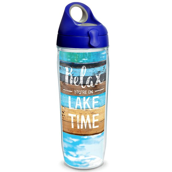 Sun and Surf Relax Lake Time 24 oz. Plastic Water Bottle by Tervis Tumbler