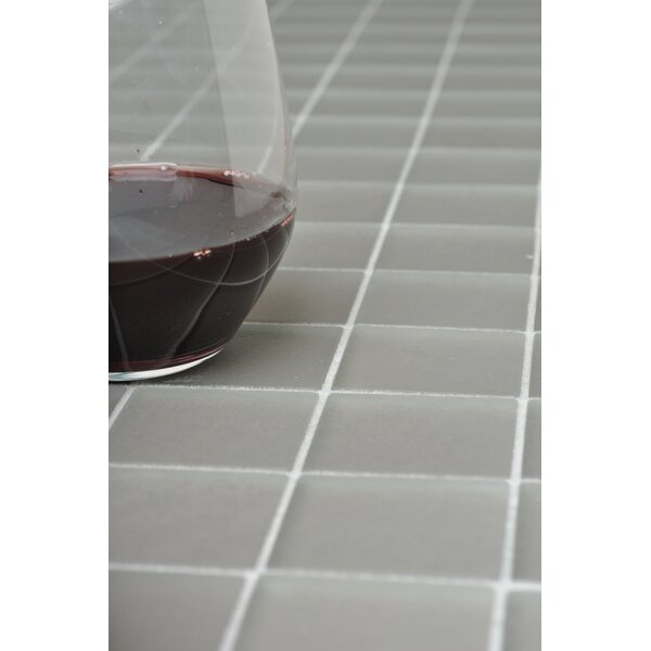 Traditional Glass 2 x 2 Mosaic Tile in Cloud by Kellani