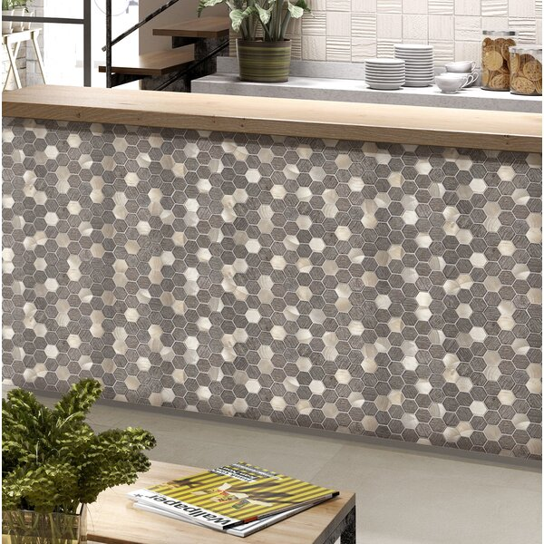Glitz 2 x 2 Glass/Aluminum Mosaic Tile in Love by Emser Tile