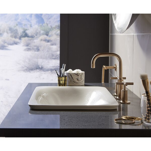 Sartorial Vitreous China Rectangular Vessel Bathroom Sink by Kohler