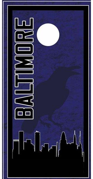 Baltimore Skyline Cornhole Board by Lightning Cornhole