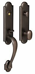 Boulder Full Dummy Handleset with Interior Knob and Trim and Emergency Egress by Baldwin