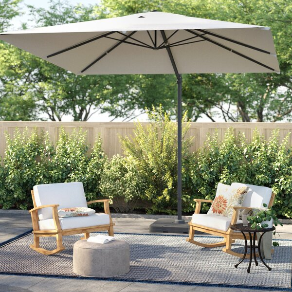 Boracay 10' Square Cantilever Umbrella By Sol 72 Outdoor by Sol 72 Outdoor Best Choices