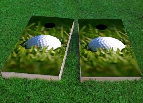 Golf Ball Cornhole Game (Set of 2) by Custom Cornhole Boards