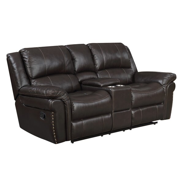 Everardo Reclining Leather Loveseat By Darby Home Co Discount