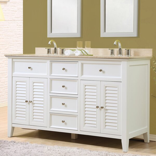Shutter 60 Double Vanity Set by J&J International LLC