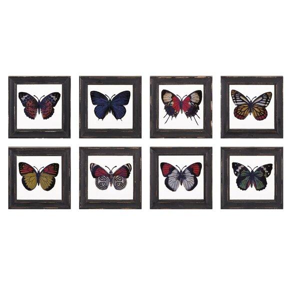 Flutter on Wood Set (Set of 8) by Birch Lane™