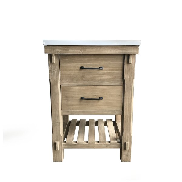 Zaire Rustic 24 Single Bathroom Vanity Set by Gracie OaksZaire Rustic 24 Single Bathroom Vanity Set by Gracie Oaks