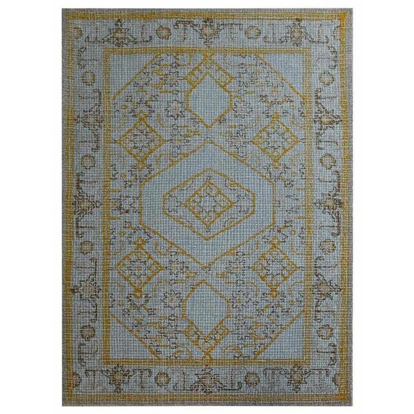 Rackers Hand-Tufted Wool Blue Area Rug by World Menagerie